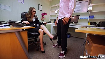 Office Slut Sucks a Black Dick at Work