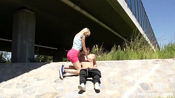Friday Fun outdoors with hot skinny Grand mom