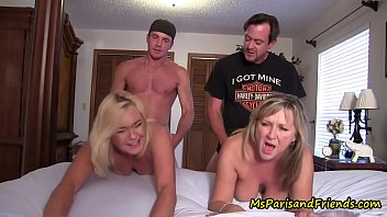 Family orgy mother and daughter fucked for money