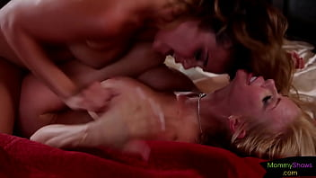 Bigtitted Stepmom Tribbing On The Bed