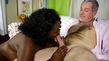 Cock hungry busty black BBW gives an amazing blowjob