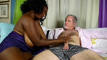 Cock hungry busty black BBW gives an amazing blowjob thumbnail
