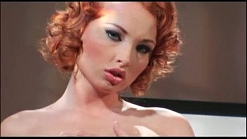 Curly red head sex Curly redhead bitch takes two big cocks