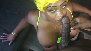 Ebony Houston Big Tit Slut Receives Huge Facial By SexGodPicassoEx