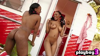 Black babes show ass outdoor Nasty busty girls enjoyed at a outdoor photo session