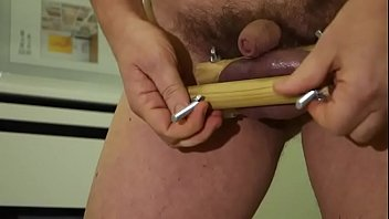 Painful gay torture A self-maid balls crusher in action, real pain- addiction, cpock and balls tortures