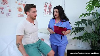 Doctor Dick Fixer Angelina Castro & Dr Cock Milker, Karen Fisher, cure a hard cock & make it shoot a load all over the huge tits! Full Video & Angelina Live @ AngelinaCastroLive.com!