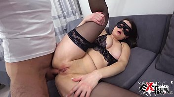 Sexy Brunette Deepthroat and Ass Fuck after Work - Cum Swallow