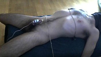 Male bound and driven to orgasm with a remote vibrator