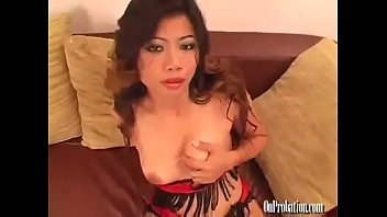 big booty Thai Asian girl takes a huge uncut BBC