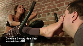 Celestia's Sweaty Gym Feet - www.clips4sale.com/8983/15757048