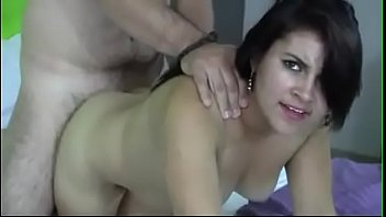 Chubby latina fucked on a bed