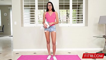 Fit18 - Rachel Rivers - 50kg - Casting Tiny College Student With Glasses and Braces