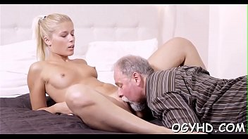 Hot old naked thumbs - Tiny young vixen rides old 10-pounder
