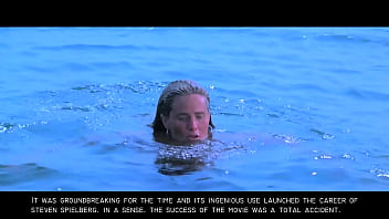 Jaws: Sexy Nude Blonde Skinny Dipping Girl GIF thumbnail