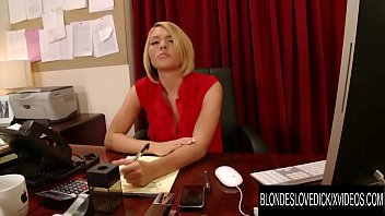 Blondes Love Dick - Big Tits Talent Scout Krissy Lynn Surprised by Fat Cock