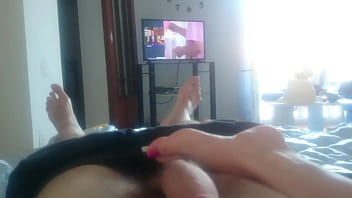 footjob by my girl'_s small feet