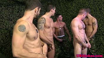 Jay Roberts and Scott hunter army orgy