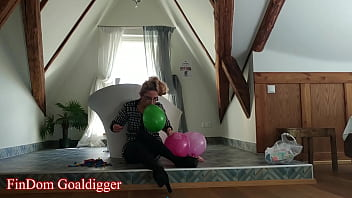 Blowing Balloons in Findom Style part 2