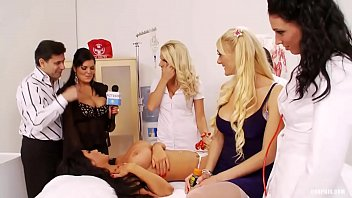Blonde lesbian and doctor - Kinky orgy with nurses fucking doctors and patients...