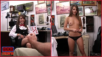 Funny sexy card Xxxpawn - casino card dealer visits our pawn shop and takes a gamble