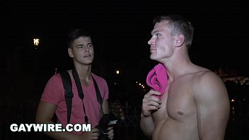 GAYWIRE - Drago Lembeck Anal Pounding A Tourist In Public View