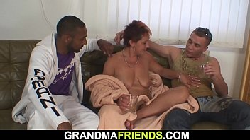 Black lady sexy woman - Sexy grandma swallows black and white cocks at once