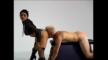 Exotic Mistress Mika Turns A Slave Into A Dog And Makes Him Eat From A Bowl