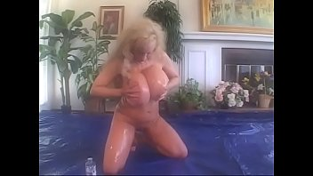 Long haired blond with gigantic beach ball breasts pussy fucked & creamed