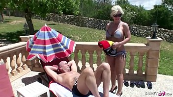 GERMAN MOM Fuck with Stranger at Pool on Holiday 9 min