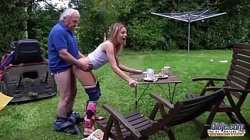 Grandpa fucks t een fingers her tight pussy fu  tight pussy fucks her mouth wit
