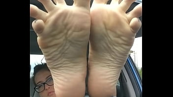 Theperfectmistress shows off her sweaty feet - Prettyfeets.com