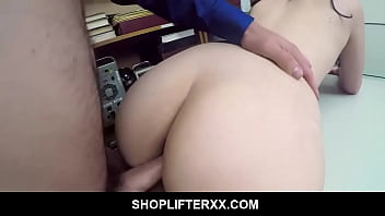 Teen Taken To Security Room To Punished After Getting Caught Stealing - Violet Rain