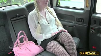 Blonde cutie gets a free taxicab charge in return for sex