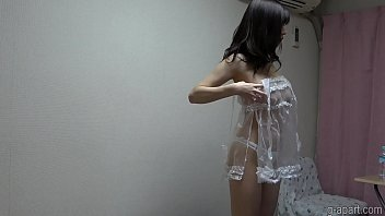 Yuuna Ishikawa in see through lingerie change clothes