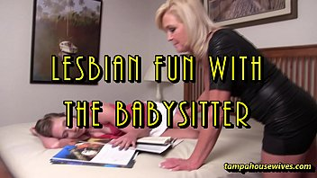 Lesbian Fun with The Babysitter