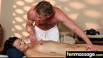 Gorgeous Skinny gets a massage 17