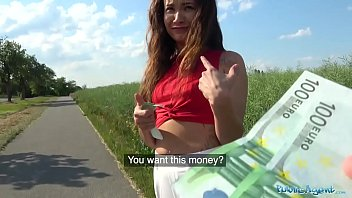 Public Agent Sexy Spanish beauty fucked in a field for cash