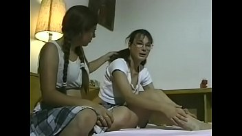 She comforts her girlfriend licking her pussy