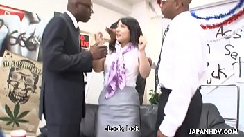 Chiharu has a rough sex toy session with the boys thumbnail