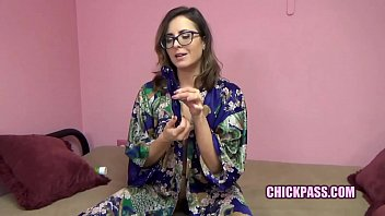 ChickPass - Mature brunette Helena Price plays with her glass toy