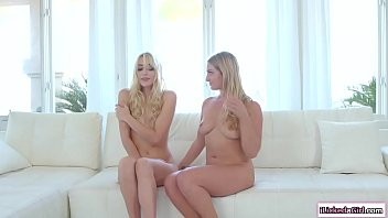 Naked babe licked by lesbian neighbor