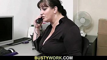 Horny co-worker fucks BBW
