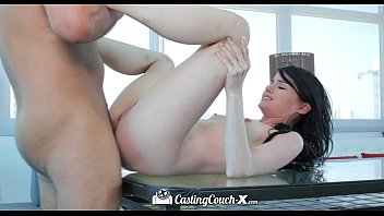 hd - castingcouch-x hot girl heather night gets first creampie on camera