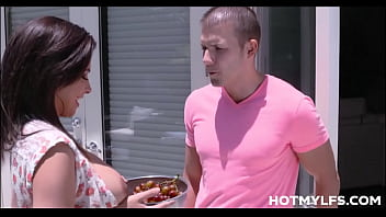Big Tits Big Ass MILF Step Mom Danica Dillon Orgasm Sex With Step Son On Family Couch