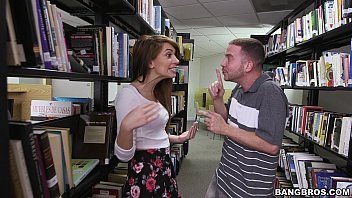 Pounding a hot teen brunette (Joseline Kelly) in the Library