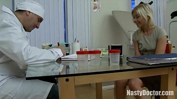 doctor tricks his blonde patient into having hardcore anal