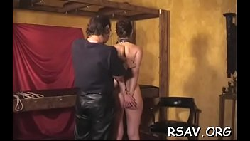 Helpless young cutie gets totaly bound up and thonged