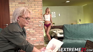 Tantalizing granny adores licking young female butt holes thumbnail