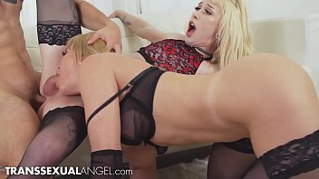 Jenna Gargles Fucked & Blown At Same Time - TranssexualAngel